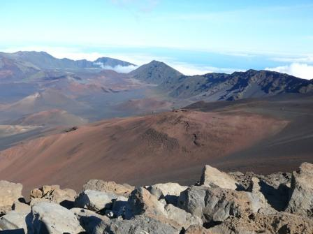 On Haleakala, Mauis Volcano